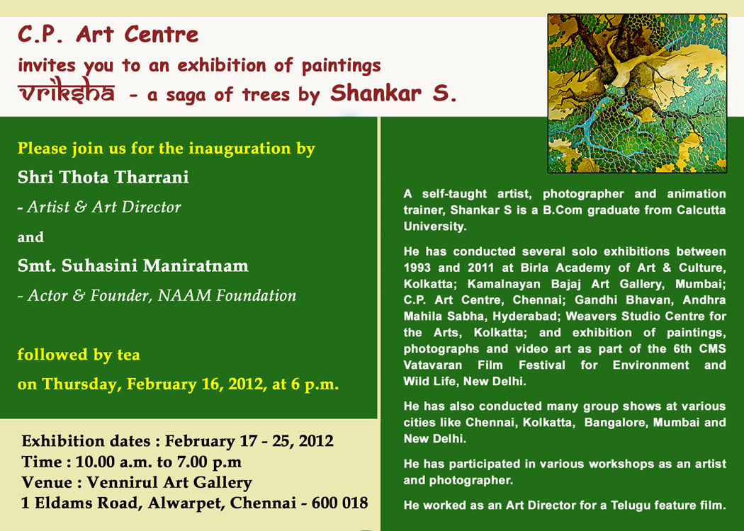 Madras painting exhibition voices and visions chennai india exhibition of tree paintings february 17 25 stopboris Choice Image