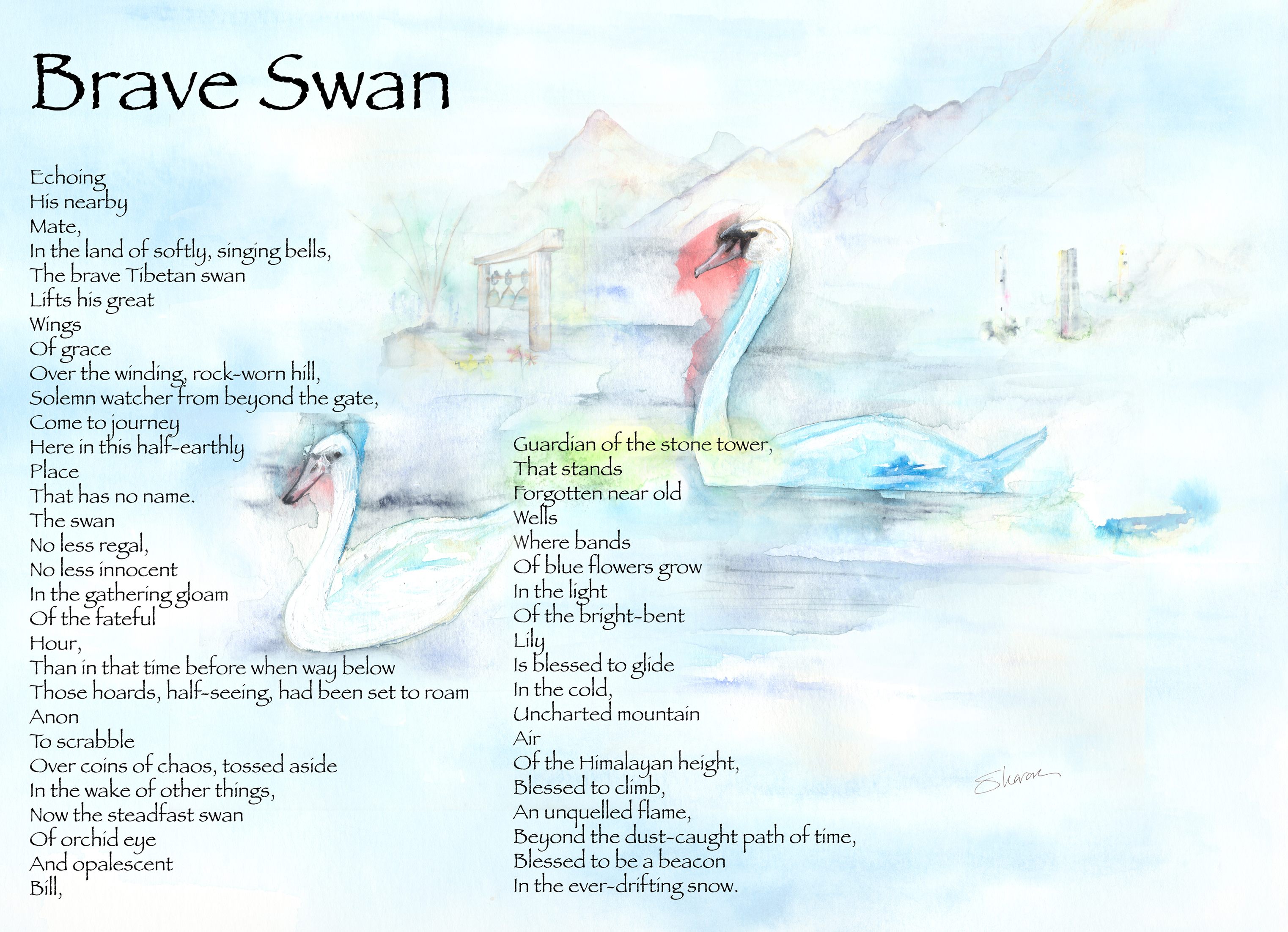 braveswantwo 20mb forfineartamerica copy copy - Poem Of The Day 25th Feb 2014