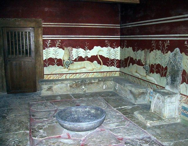 The throne room of Knossus