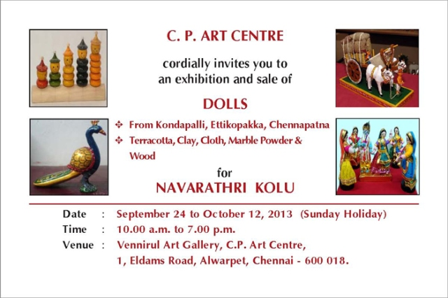 sept 24 2013Navarathri Kolu Exhibition - Invitation 2013 6X4