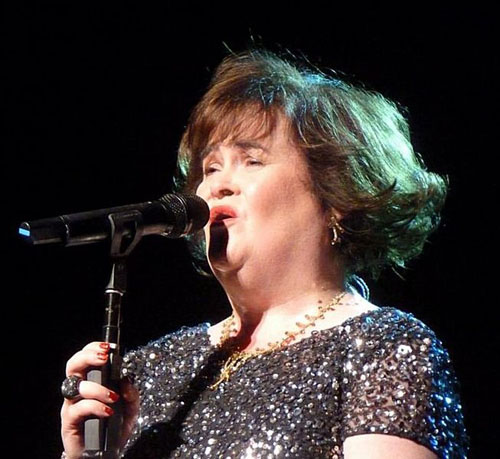 Susan Boyle at the Edinburgh Festival Theatre, 2013