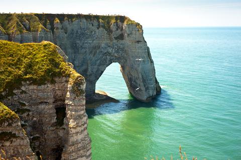 © Demid | Dreamstimecliffs on a beach cote d'albatre France.com