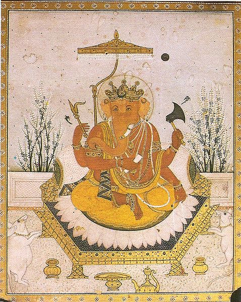 478px-Ganesha_Nurpur_miniature_circa_1810_Dubost_p64