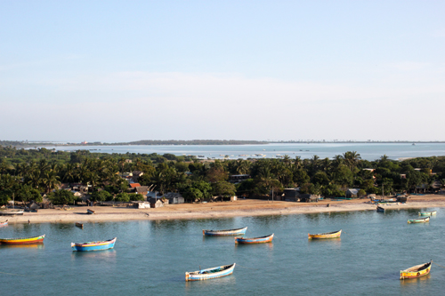 Boats off the coast of Rameshwaram