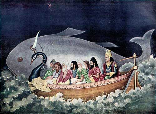 800px-The_fish_avatara_of_Vishnu_saves_Manu_during_the_great_deluge