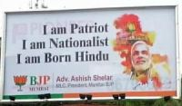Modi quote on a billboard in Mumbai