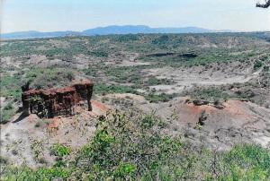 Olduvai Gorge and monolith