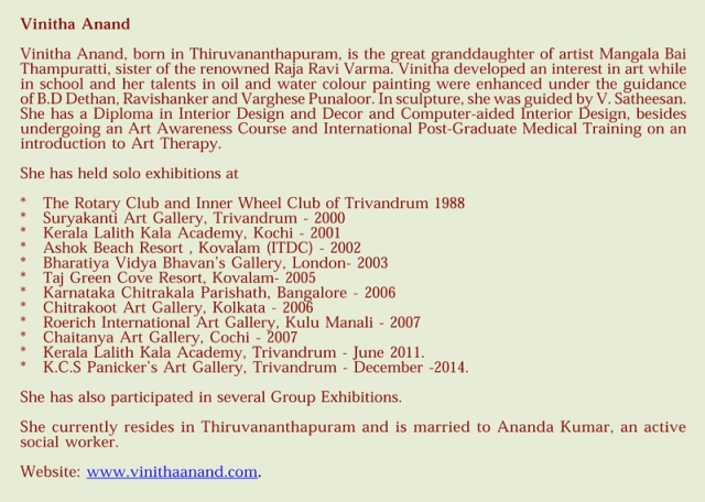 Exhibition of paintings - Vinitha Anand