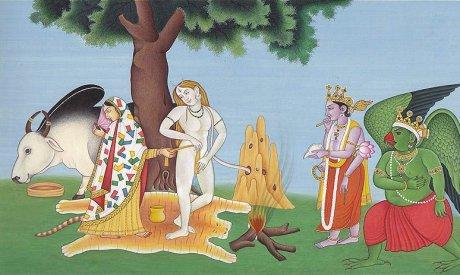 Parvati, Shiva, Vishnu and Garuda