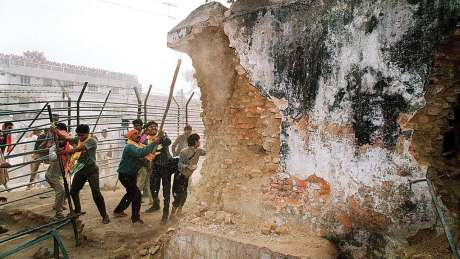Destruction of Babri Masjid in January 1992