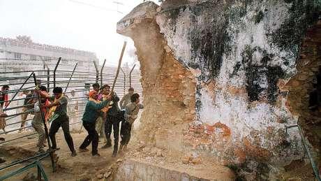 Destruction of Babri Masjid in January 1992